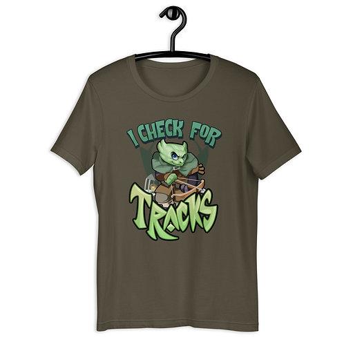 I Check For Tracks - Green Kobold T-Shirt