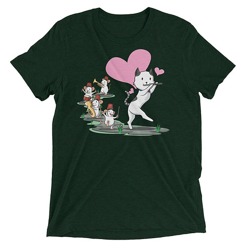 Cat Pied Piper Band Triblend T-Shirt