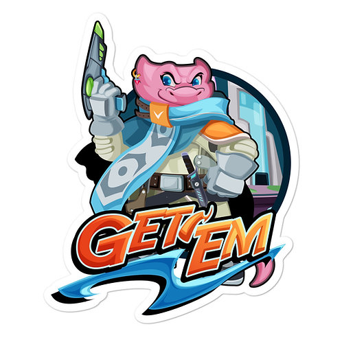 Get 'Em - Pink Kobold Sticker