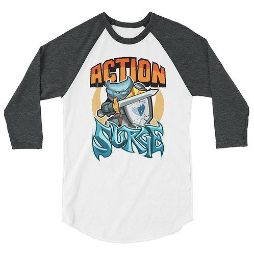 Action Surge - Blue Kobold 3/4 Raglan Shirt
