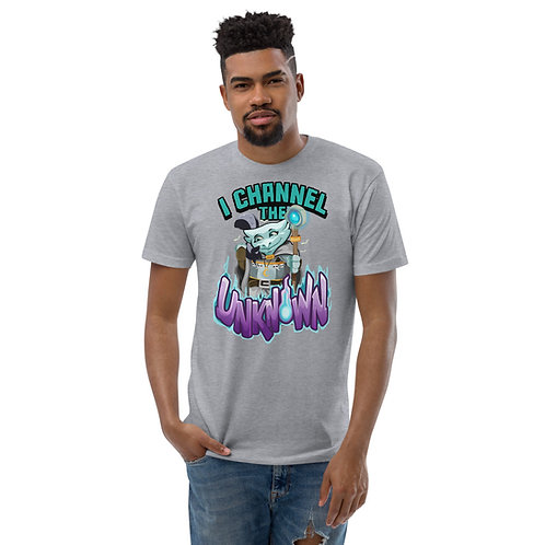 I Channel the Unknown - Light Blue Kobold Men's Fitted T-Shirt