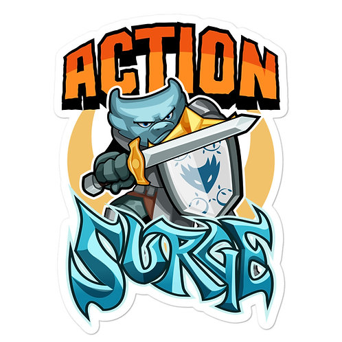 Action Surge - Blue Kobold Sticker