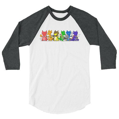 Kobold Rainbow 3/4 Raglan Shirt