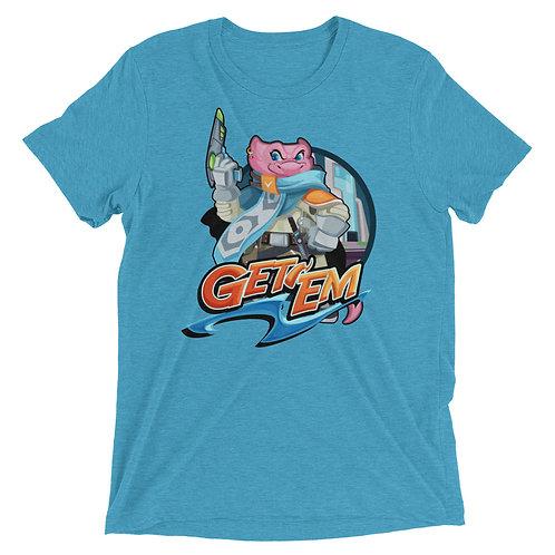 Get 'Em - Pink Kobold Triblend T-Shirt
