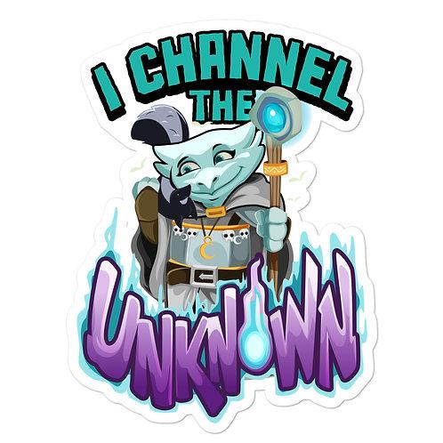 I Channel the Unknown - Light Blue Kobold Sticker