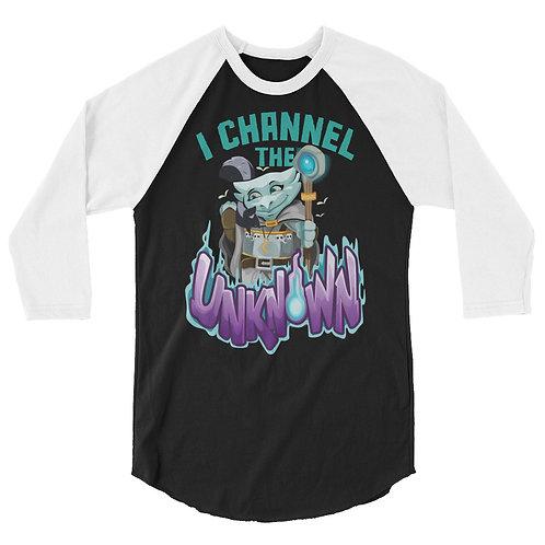 I Channel the Unknown - Light Blue Kobold 3/4 Raglan Shirt