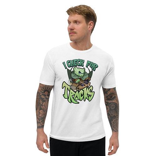 I Check For Tracks - Green Kobold Men's Fitted T-Shirt