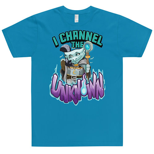 I Channel the Unknown - Light Blue Kobold Jersey T-Shirt