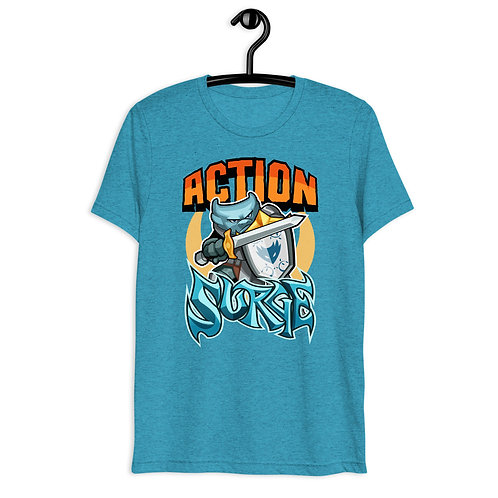 Action Surge - Blue Kobold Triblend T-Shirt