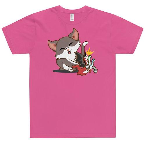 Cat Knocks Dragon Over Jersey T-Shirt