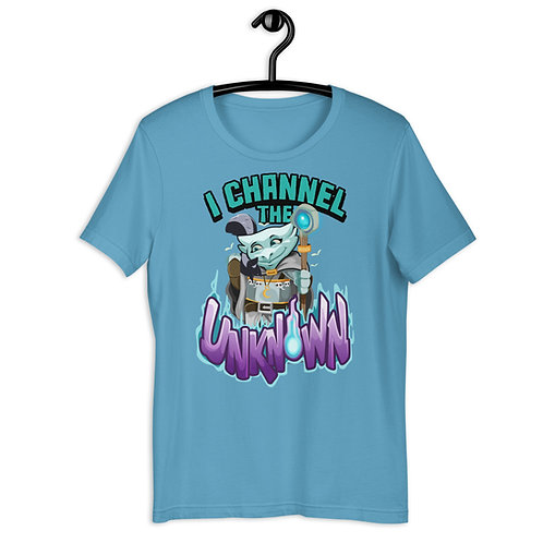 I Channel the Unknown - Light Blue Kobold T-Shirt