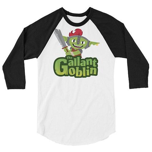 Gallant Goblin Mascot Logo 3/4 Raglan Shirt