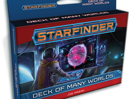 Starfinder Deck of Many Worlds Landing January 2020
