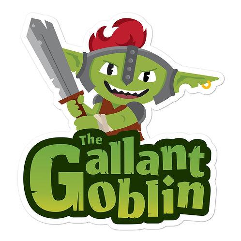 Gallant Goblin Mascot Logo Sticker