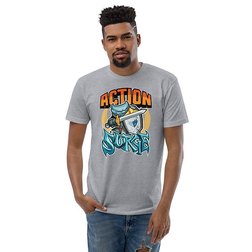 Action Surge - Blue Kobold Men's Fitted T-Shirt