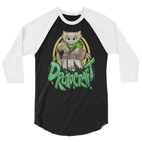 Druidcraft - White Kobold 3/4 Raglan Shirt