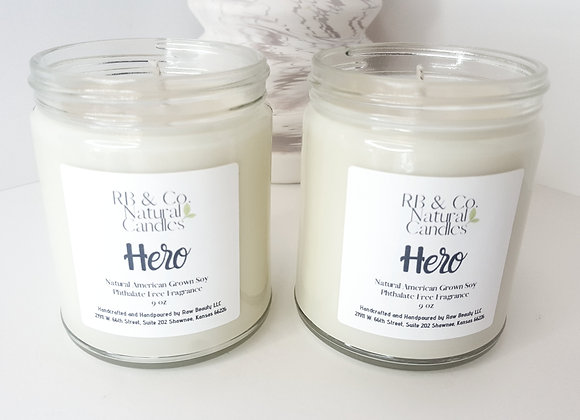 Hero | Natural Soy Candle | Hand-Poured and Hand-Crafted