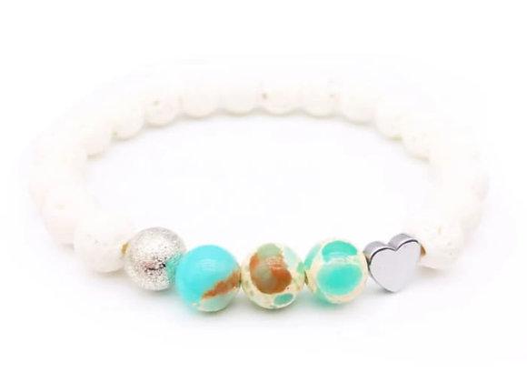 Ocean Lava Stone Essential Oil Bracelet