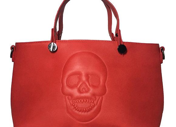 Skully Red Vegan Leather Skull Handbag