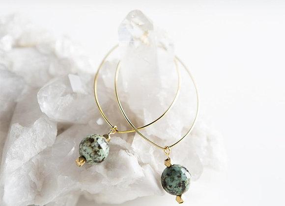 Lenny Gemstone Earrings - African Turquoise