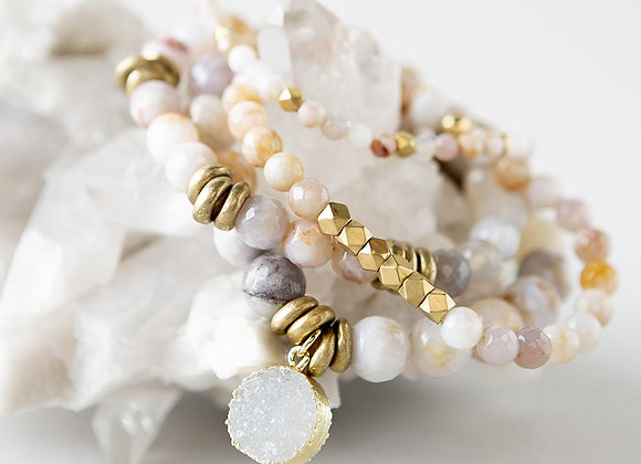 Gray Agate Gemstone Bracelets