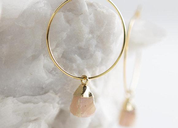 Bella Earrings - Pink Opal