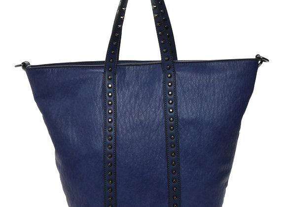 Holly Blue Vegan Leather Tote Handbag