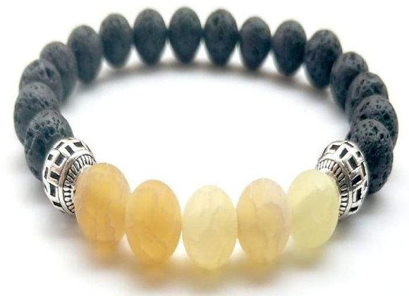 Yellow Lava Stone Essential Oil Bracelet