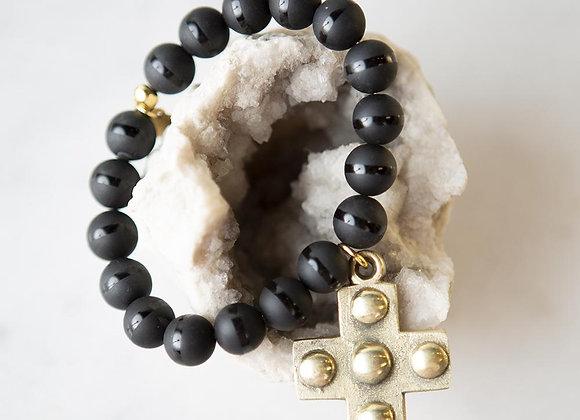 Agate Cross Bracelet (Limited Edition)