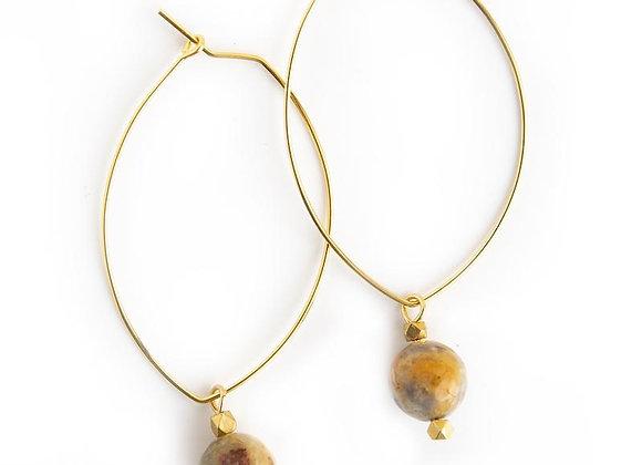 Lenny Gemstone Earrings - Mexican Agate