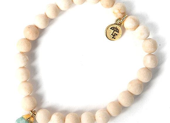 Bella Bracelet - Aqua Chalcedony Nugget