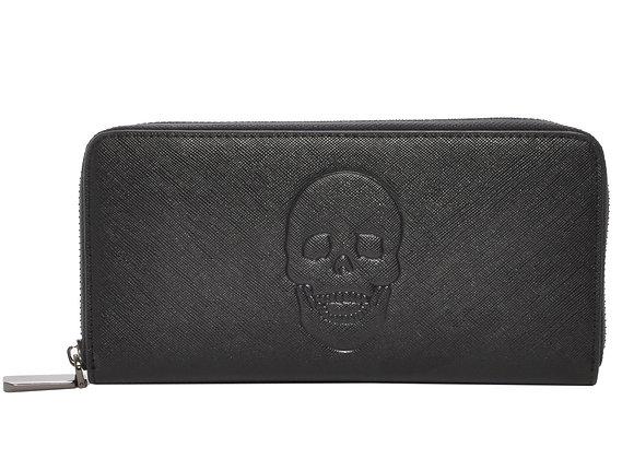 Skully Black Vegan Leather Skull Wallet