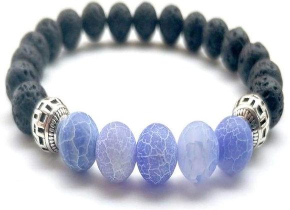 Purple Lava Stone Essential Oil Bracelet