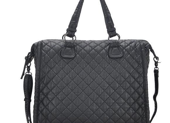 Estee Black Vegan Leather Shoulder Handbag