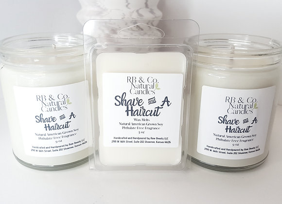 Shave and a Haircut | Natural Soy Candle | Hand-Poured and Hand-Crafted