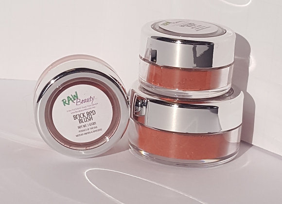 Brick Red Natural Blush Pigment | Raw Beauty Minerals