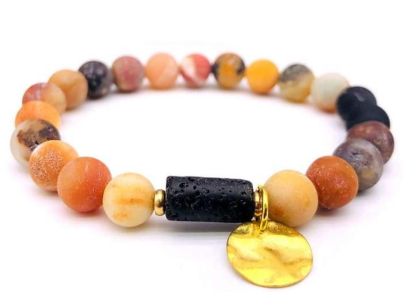 Sun Goddess (Amazon) Lava Stone Essential Oil Bracelet
