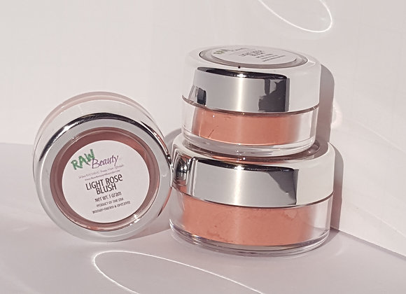 Light Rose Natural Blush Pigment | Raw Beauty Minerals