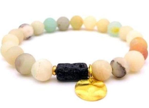 Sun Goddess (Light) Lava Stone Essential Oil Bracelet