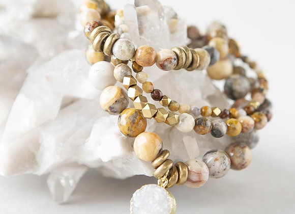 Mexican Agate Gemstone Bracelets