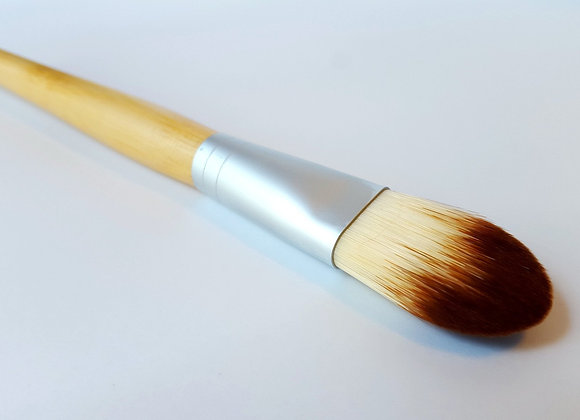 Vegan Foundation Brush With Bamboo for Flawless Makeup Application