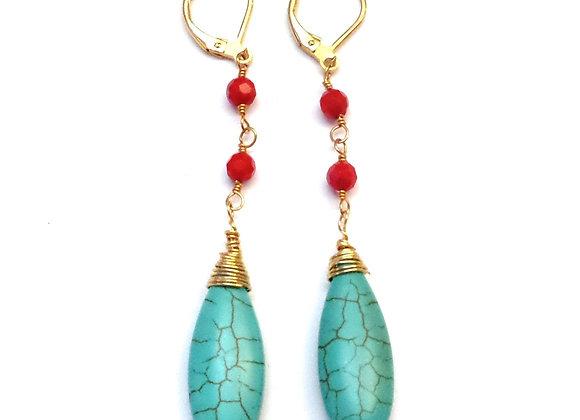 Monique Turquoise Earrings