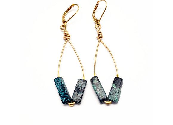 Quesa Hoop Earrings - Silver or Gold