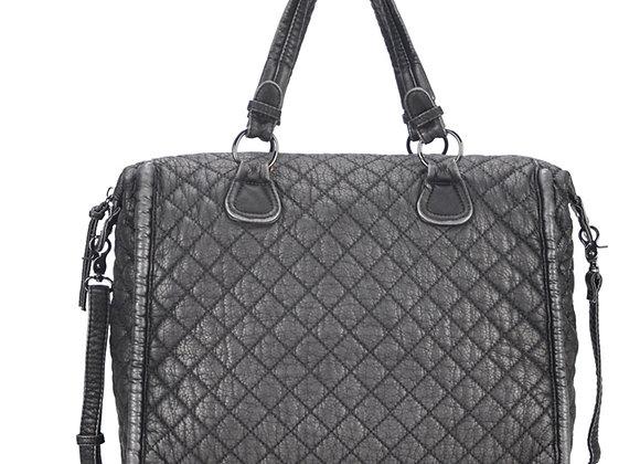 Estee Pewter Vegan Leather Shoulder Handbag