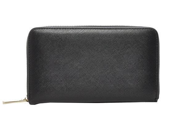 Zatie Black Vegan Leather Wallet