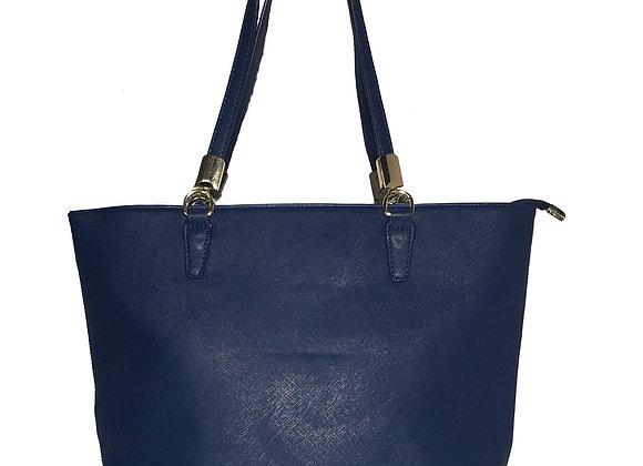 Sydney Blue Vegan Leather Tote Handbag