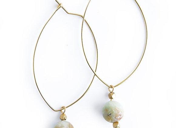 Lenny Gemstone Earrings - Amazonite