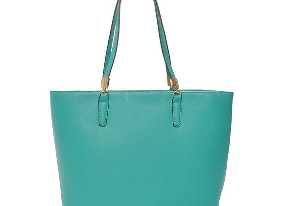Sydney Green Vegan Leather Tote Handbag