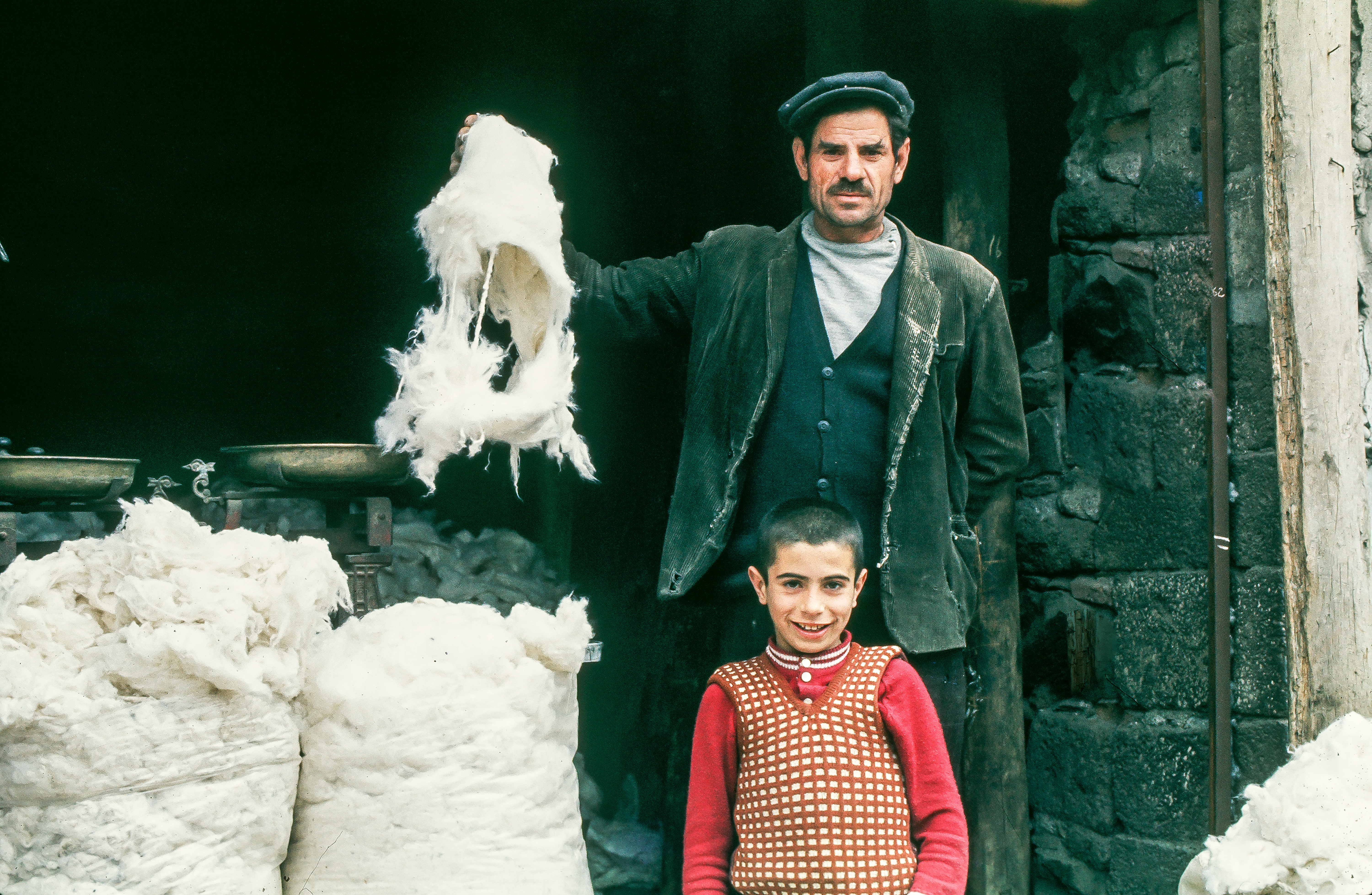 Father Son Wool Workers