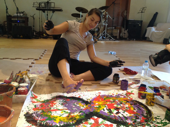 Art therapy workshop with Meera Hashimoto